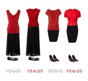 suknja i majica trecine