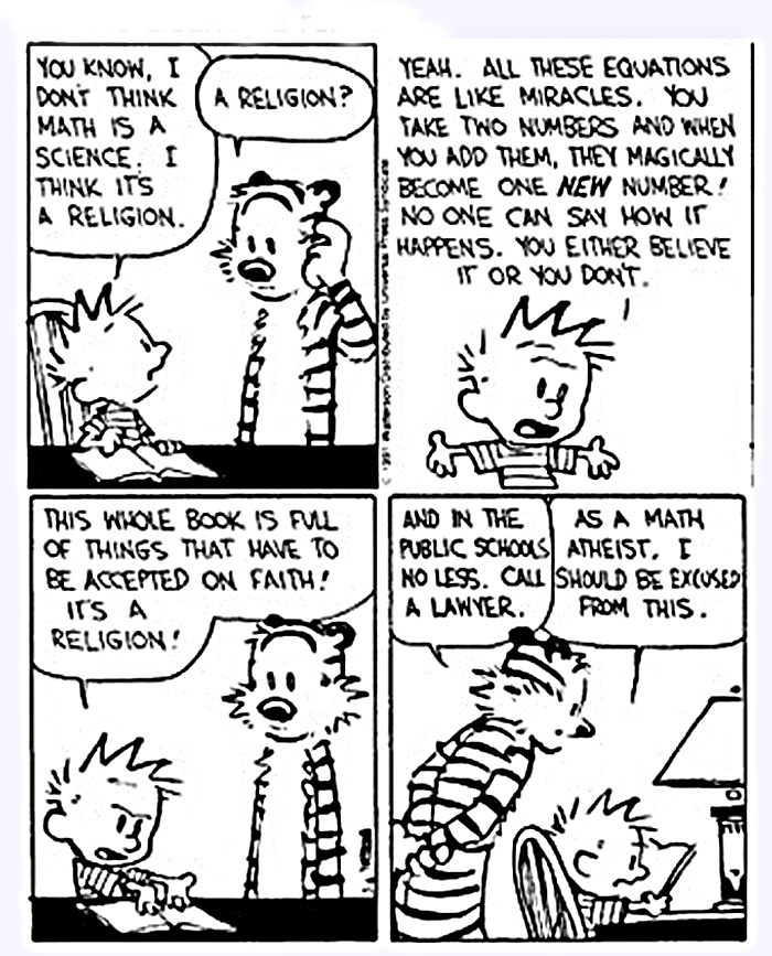 math is a religion